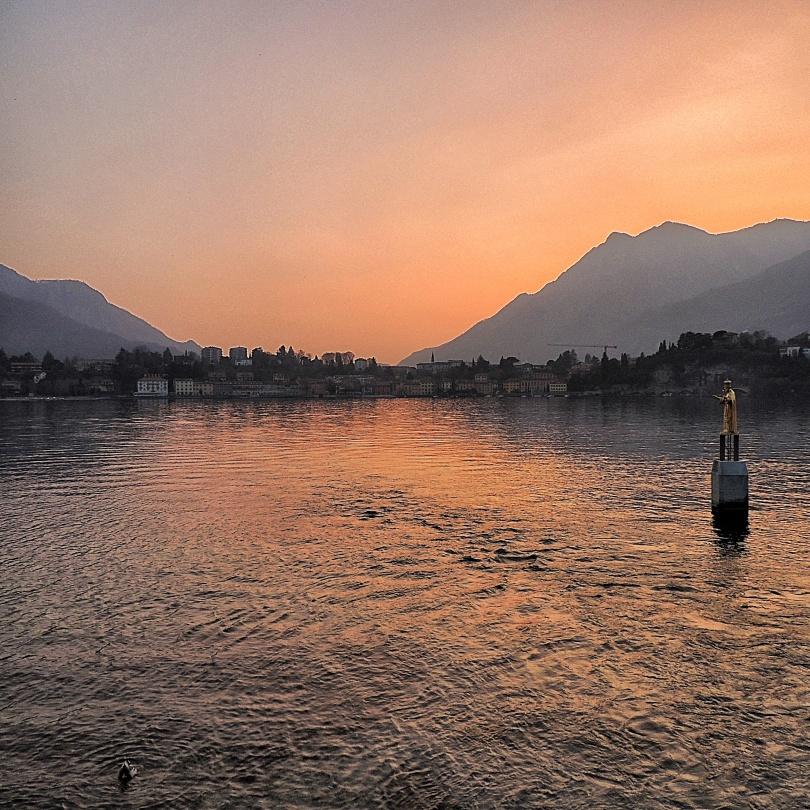 Tramonto sul lago a Lecco